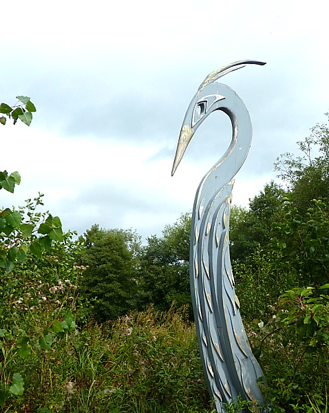 33 Burton Heron sculpture