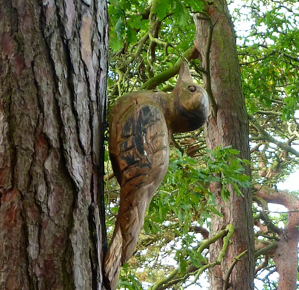 33 Burton woodpecker sculpture