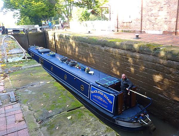 38 Chester narrow boat in lock