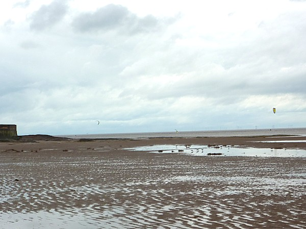 10 Hoylake redshanks and windsurfers