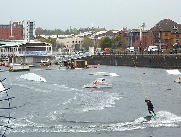 17 Waterfront wakeboarding
