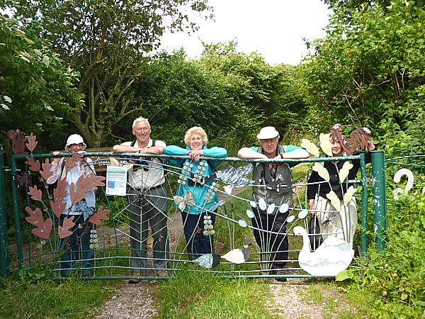 26 Gorse Hill group at gate