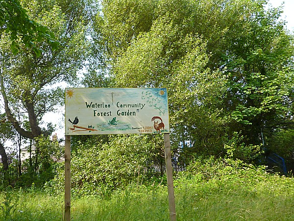 27 Crosby Forest garden sign