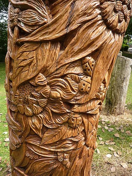 27 Crosby wood carving