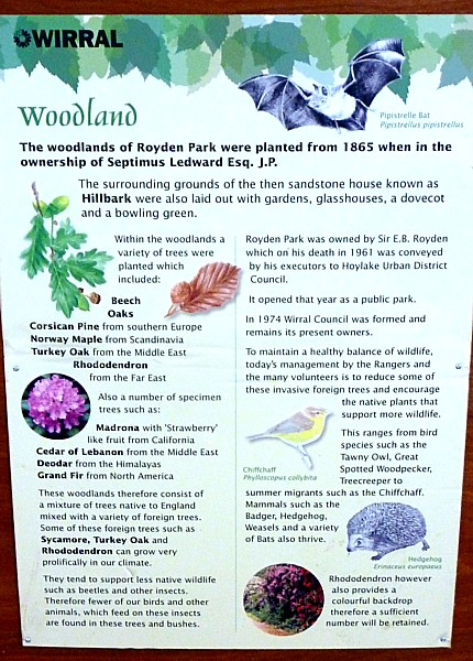 29 Royden woodland sign
