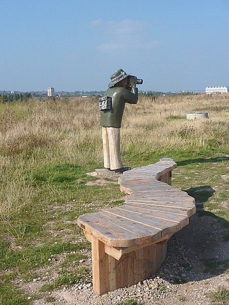 37 New Ferry birdwatcher and bench