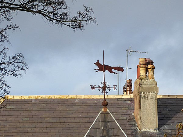 45 West Kirby fox weathervane