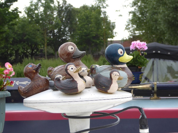 22 Eldonian wooden mallards